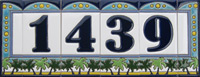 Palm Tree Number Tiles